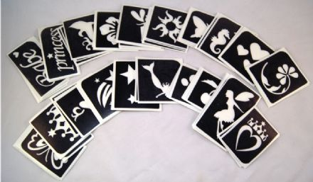 MIXED PACK OF 20 STENCILS - choose your own designs